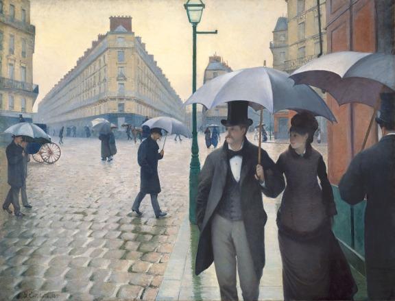 Gustave Caillebotte. Calle de París, día lluvioso, 1877.