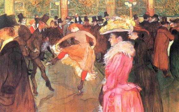 La danse au Moulin Rouge, Henri de Toulouse-Lautrec, 1890